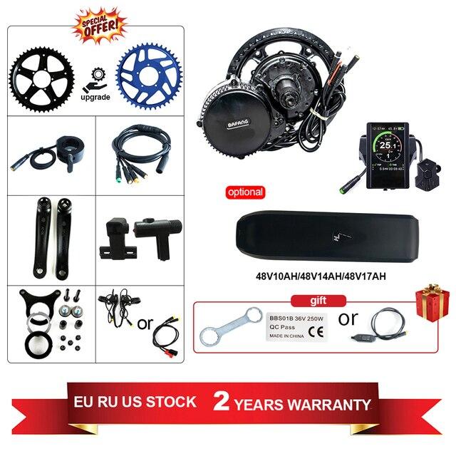 Hot Sale Free Shipping Bafang 48V 750W BBS02b Electric Bike Mid Drive Motor Kit MM G340.750