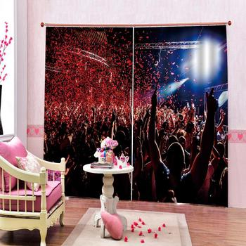 Custom Dance curtains for clud Curtain for living room bedroom blackout home drapes