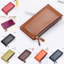 Женский кошелек женский s вместительный Бумажник PU кожаный держатель для кредитных карт Длинный кошелек с слотами Portefeuille Femme