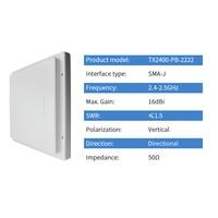 sma זכר עבור 2.4GHz Wifi אנטנה 2400M לוח Directional אנטנה 16dBi SMA זכר נתב Antena מגבר אות עבור Base Station TX2400-PB-22 (2)