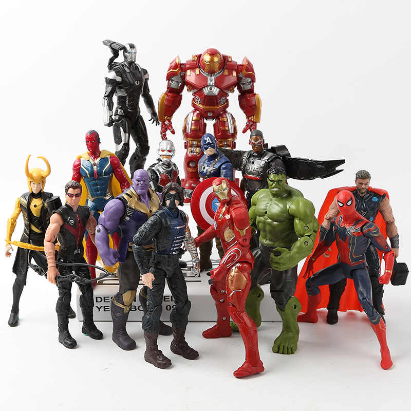 Marvel Avengers 3 Infinity War Action Figures Speelgoed Hulk Captain America Spiderman Thanos Iron Man Hulkbuster Kerstcadeau
