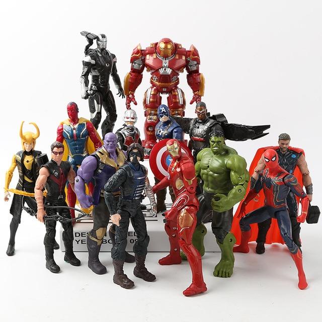 Marvel Avengers 3 nieskończoność wojna figurki zabawki Hulk kapitan ameryka Spiderman Thanos Iron Man Hulkbuster prezent na boże narodzenie