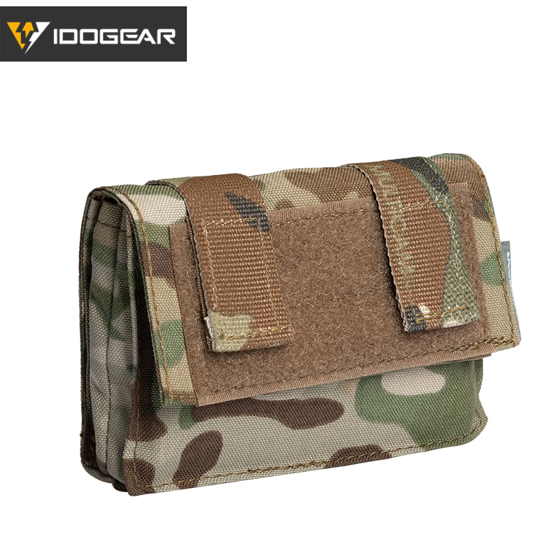 IDOGEAR Tactical FAST Helmet Utility Pouch Removable Rear Pouch NVG Counterweight Battery Pouch 3549