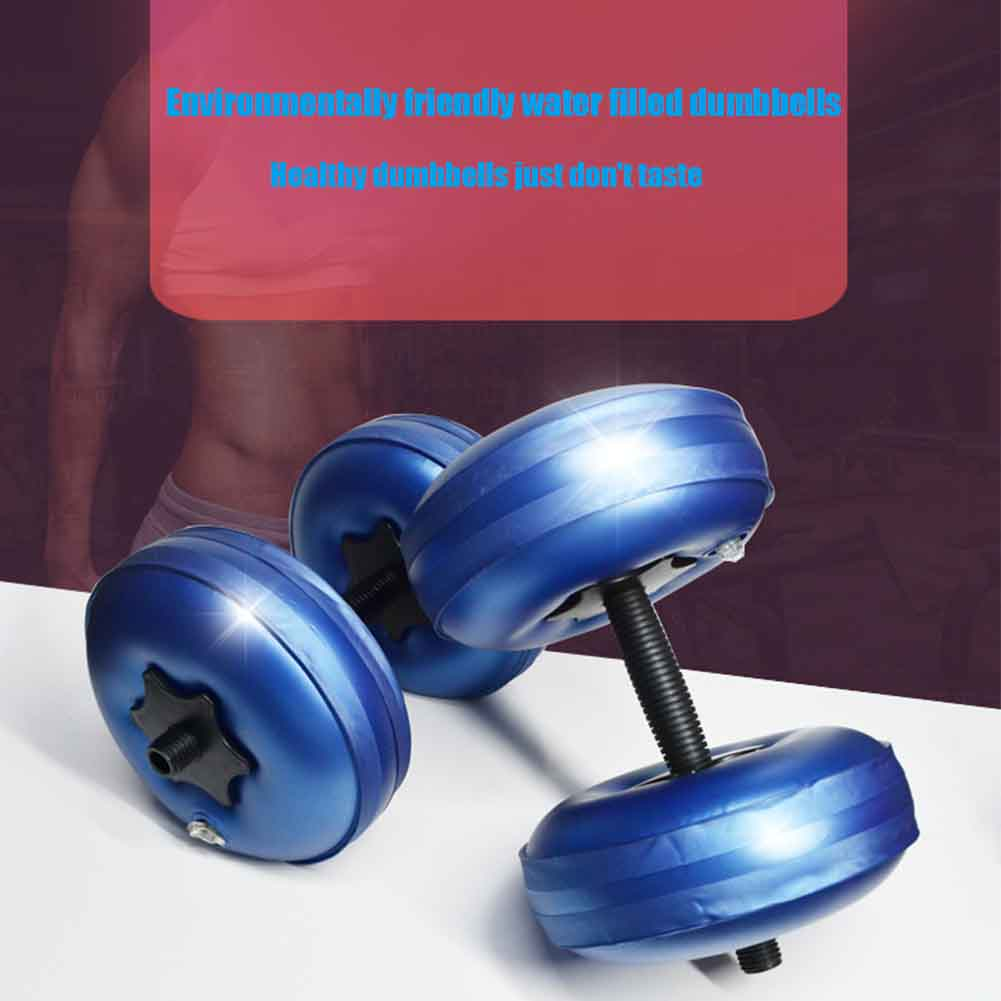 2pcs Fitness Equipment Body Building Travel Gym Adjustable Barbells Water Filled Dumbbell Sports Home Workout Portable Exercise