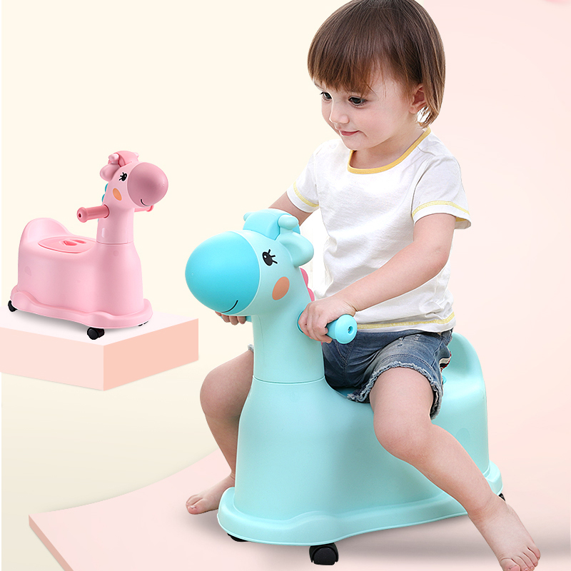 New Colorful Kids Potty Training Toilet Seat, Toilet Seat For Children,cute Giraffe Design Plastic Baby Potty
