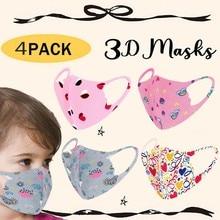 Cute Mask Masque Halloween Cosplay Protectoras Cotton Child for Face Fun Print 4pcs Caretas