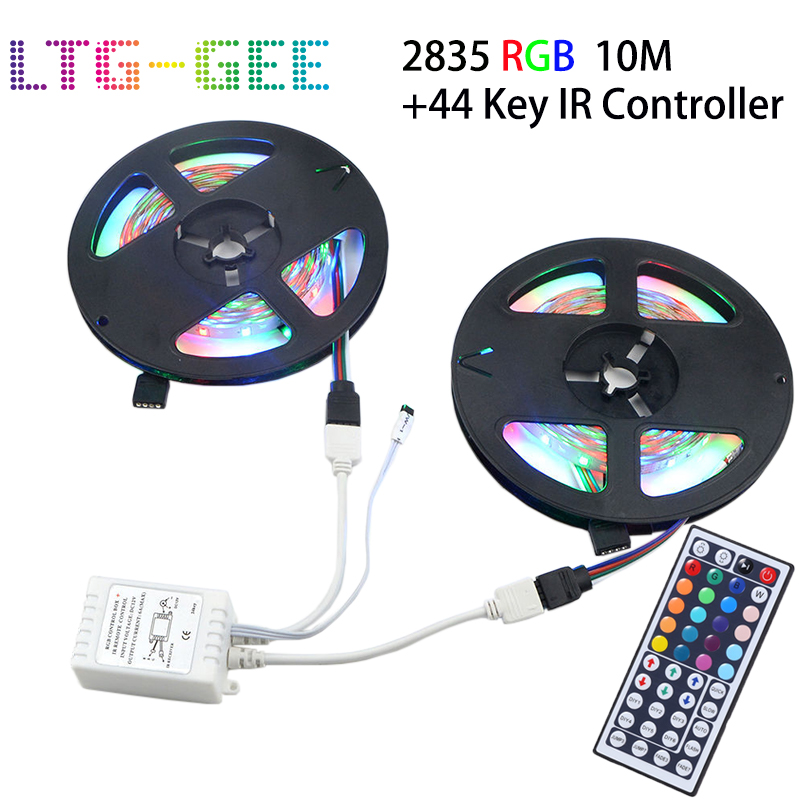 5m 10m 3528 SMD RGB Color Changing LED Strip Light With 44key Remote Controller For Easter Decoration Christmas Decoration
