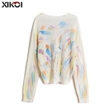Женские свитера и пуловеры xikoi с принтом Модный осенне зимний