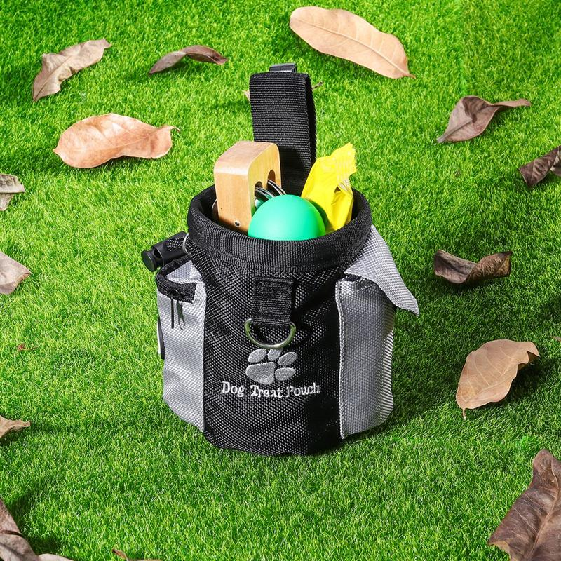 Dog Treat Pouch Pet Hands Free Training Waist Bag Drawstring Carries Pet Toys Dog Accessories Oxford Cloth Food Poop Bag Pouch 9