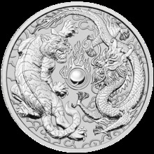 1oz dragão tigre prata moeda chapeado 40mm elizabeth collectible sourvenir moedas transporte da gota