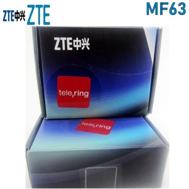 ZTE MF63 3G 21Mbps جيب موزع إنترنت واي فاي المحمول واي فاي فتح مع الجيل الثالث 3g هوائي