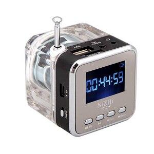 Image 2 - Mới Loa Mini Di Động Âm Nhạc Kỹ Thuật Số MP3/4 Cầu Thủ Micro SD/TF Đĩa USB Loa Đài FM LCD 20