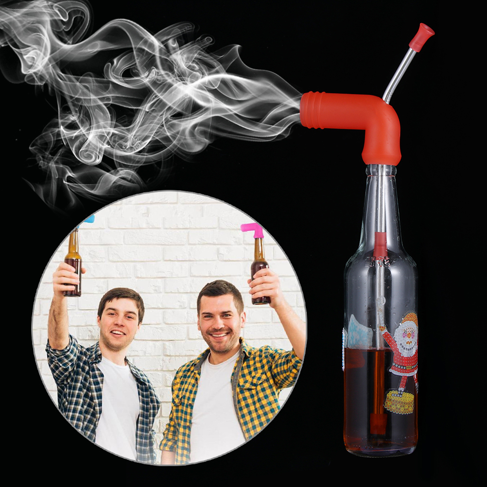 2 in 1 Hookah Beer Bong Funny Drinking Straws for Beer Can Accessories Beer Bottle Funnel Barware Home Club Party Drinks Straw 1