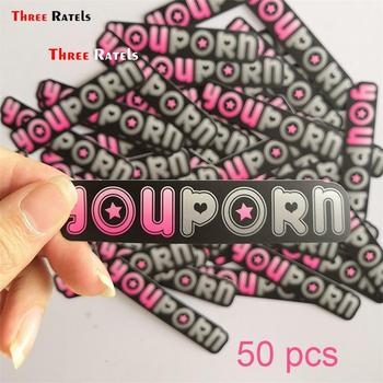 Three Ratels 50pcs  Funny  Vinyl Film Motorcycle Notebook Tablet Car Stickers Decals Auto Accessories Car Styling