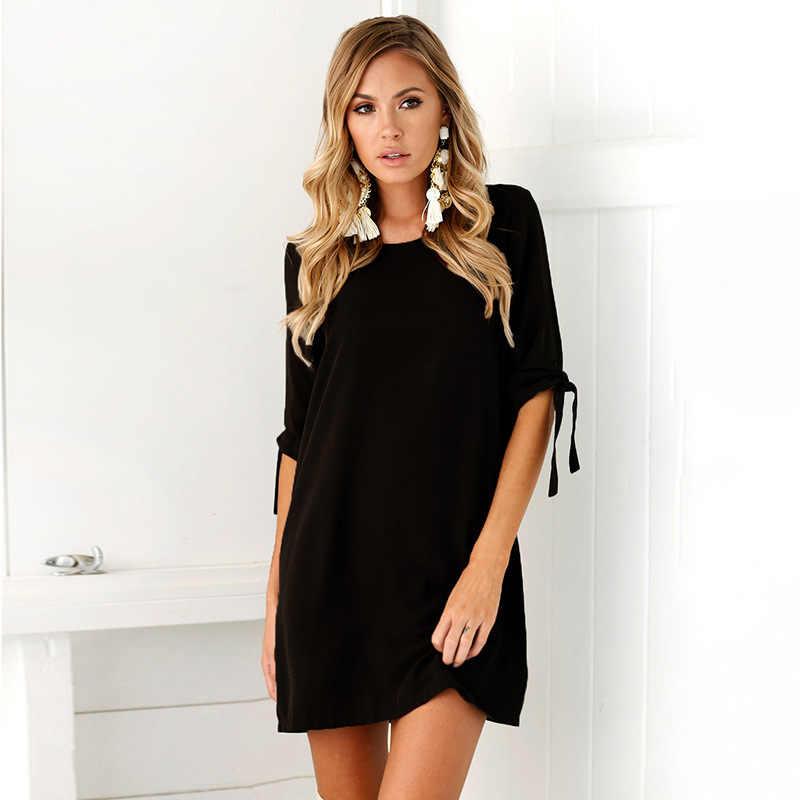 2019 женское летнее платье бохо стиль сплошное шифоновое пляжное платье туника солнце платье свободное Мини платье для вечеринки vestidos De Fiesta плюс размер