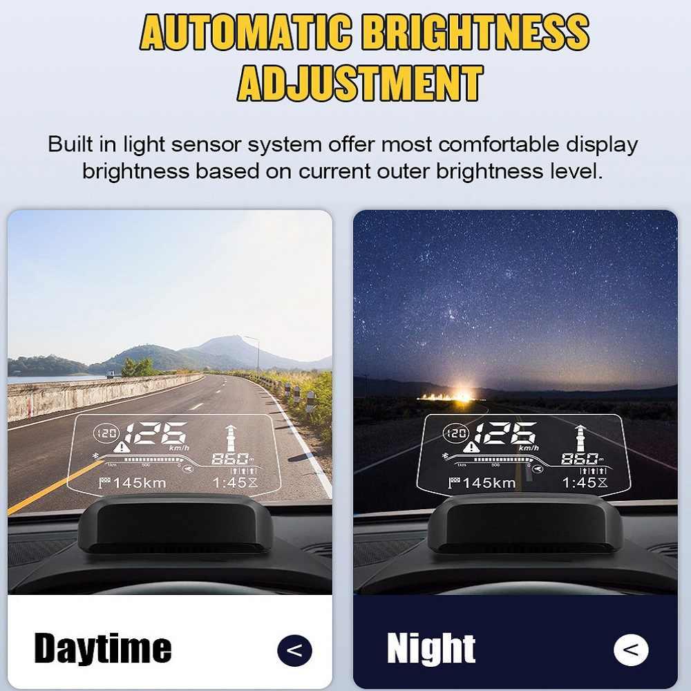 AUTOOL X500 OBD2 스캐너 HUD 및 차량용 블루투스 GPS 네비게이션 헤드 업 디스플레이 윈드 실드 스피드 프로젝터 수온 과속 RPM