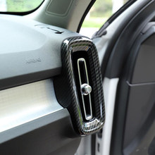 Für Volvo XC40 XC 40 2019 2020 Auto Innen Zubehör Vorderseite Klimaanlage Vent abdeckungen Trim AC Steckdose Dekoration aufkleber