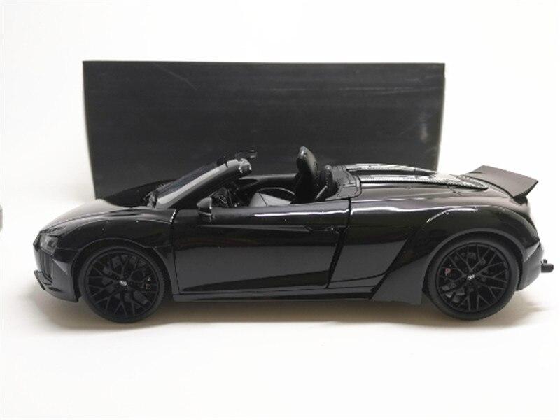 Artefacto Aislar ropa  1/18 audi r8 v10 spyder modelo de carro preto|Carrinhos de brinquedo e de  metal| - AliExpress