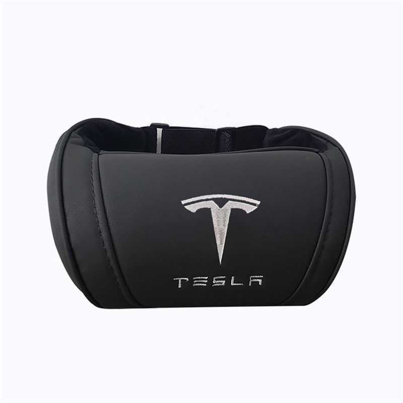 lowest price 1X Front Seat Neck Pillow For Tesla Model 3 Model X Model S Lumbar Protect Cushion Back Support Pillow Car Accessories