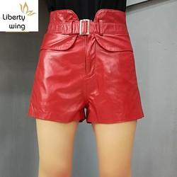 Fashion High Waist For Women Genuine Sexy 2020 Autumn Winter Casual Slim Fit Korean Female Mini Leather Shorts