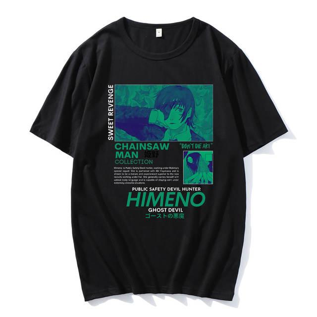 HIMENO CHAINSAW MAN THEMED T-SHIRT (10 VARIAN)