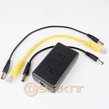 Gigabit 802.3at 24Watt aktywnych PoE Splitter 48V do 12V 2A Power Over Ethernet