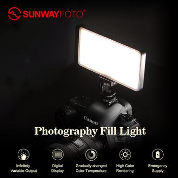 Sunwayfoto FL-96 FL-120 światło LED do kamery oświetlenie fotograficzne na Pentax aparat dv hotshoe możliwość przyciemniania LED do DSLR youtube Photo studio tanie i dobre opinie DF DIGITALFOTO Bi-color 3200 K-5600 K