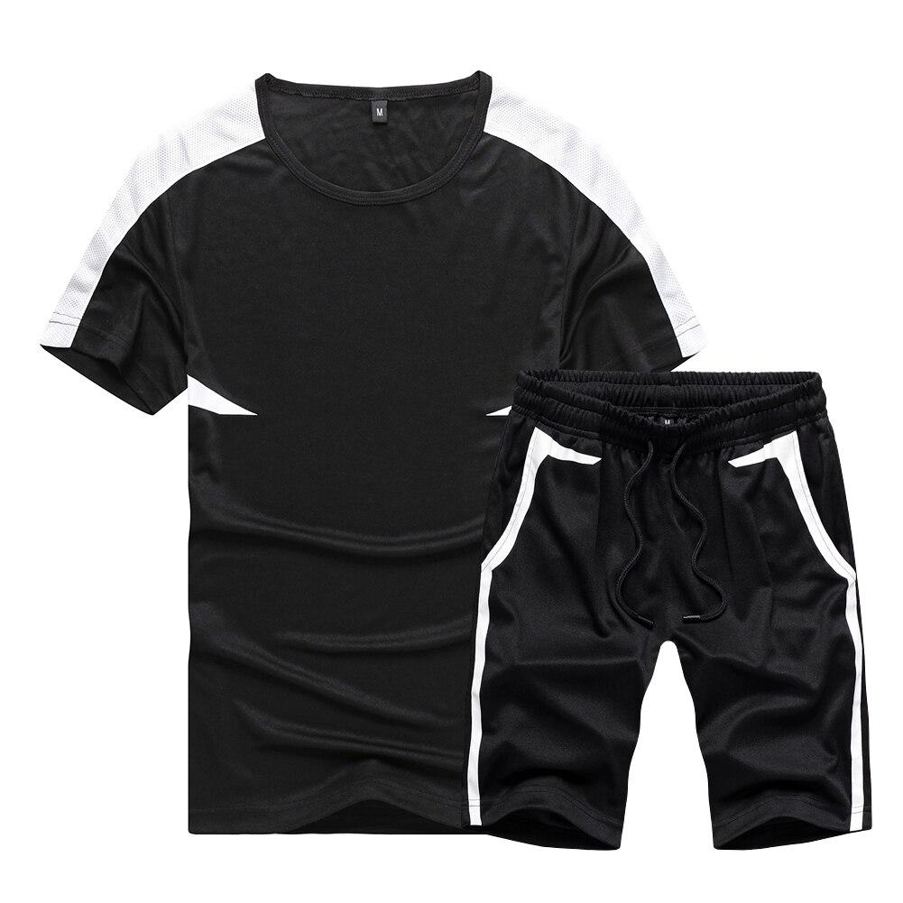 US/Euro Top Men T-shirts Suits Men Casual Shirt Short Fitness Fashion Jogging Suit Men Wear Size S-2XL Camisas Pantalones Cortos