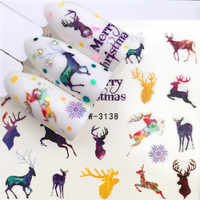 1pcs 3D Nail Stickers Art Christmas Decals Snowman Nail Wraps Snowflakes Xmas Slider Manicure Decoration Tip Tool