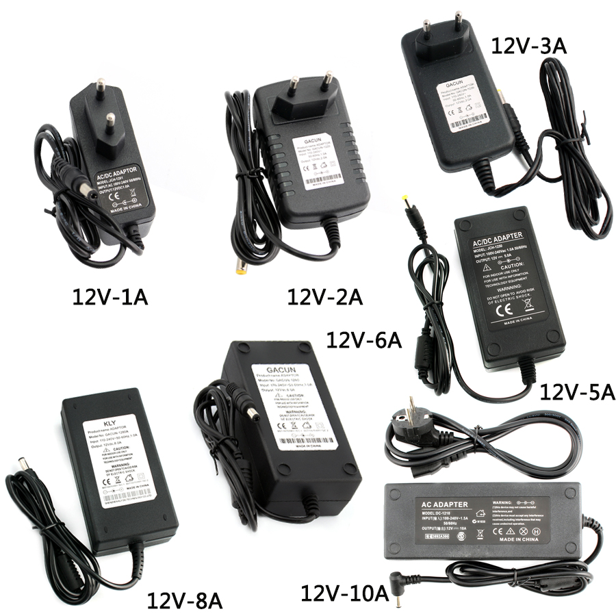 <font><b>12V</b></font> Switching Power Adapter AC DC 220V To 12 V VOLT Universal Power adapter <font><b>12V</b></font> <font><b>Alimentation</b></font> For Led Strip 1A 2A 3A 5A 6A 8A <font><b>10A</b></font> image
