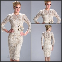 robe de soiree Short Beaded Full Sleeve vestido de noiva Short Evening gown For Women Elegant