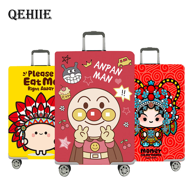 Cute Bear Luggage Cover Suitcase Elastic Protective Covers18-32 Inch Trolley Trunk Dust Case Cover Travel Essentials Accessories