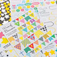 1 teile/los kinder Kreative Cartoon Dekorative Geometrische aufkleber Aufkleber Kinder Dekorative Schreibwaren Aufkleber Geschenke