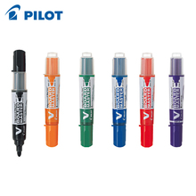 6pcs/lot Pilot V Board Master Large Bullet Round Toe Whiteboard Marker Water-borne erasable large capacity exchangeable ink bag