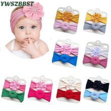 New Spring Autumn Cotton Baby Headband Donuts Flower Girls Soft Elastic Baby Girl Headbands Infant Headwear Hair Accessories
