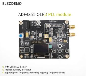 ADF4351 Module onboard STM32 single-chip phase-locked loop module 35M-4.4G RF signal source Sweeper 35m 4 4ghz phase locked loop pll rf signal source adf4351 generation module development board