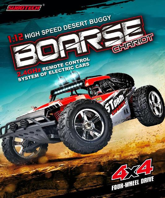 RCtown Subotech BG1513 2.4G 1/12 4WD RTR High Speed RC Off-road Vehicle Car Remote Control Car With LED Light 4