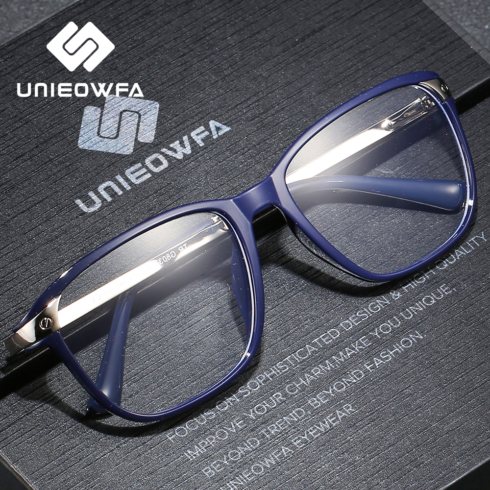Optical Prescription Glasses Frame Men Clear Myopia Eyeglasses Frame Male Transparent Eyewear Frame Alloy Tr90 Spectacles Brand