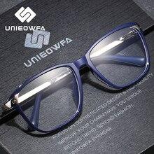 Optische Recept Brilmontuur Mannen Clear Bijziendheid Brillen Frame Mannelijke Transparante Brillen Frame Legering Tr90 Bril Merk