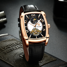 Fashion Business Mens Watch TEVISE Leather Waterproof Automatic Mechanical Men Tourbillon Sport Watches Relogio Masculino