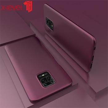 X-level Minimalist Thin Soft Tpu Matte Protective Back Cover For Redmi 9 9a 9c 10x 4G 5G Case Wine Red for redmi note 9 por 9s