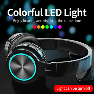 Image 2 - Picun B12 Bluetooth 5.0 Headphones Wireless Headset 36H Foldable LED Light Stereo Gaming Earphone With Mic For iphone Xiaomi PC