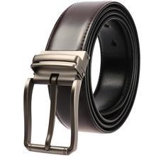 купить Men High Quality Genuine Leather Belt Luxury Designer Belts Men Cowskin Fashion Strap Male Pin Buckle Waist Belt Jeans for Man онлайн