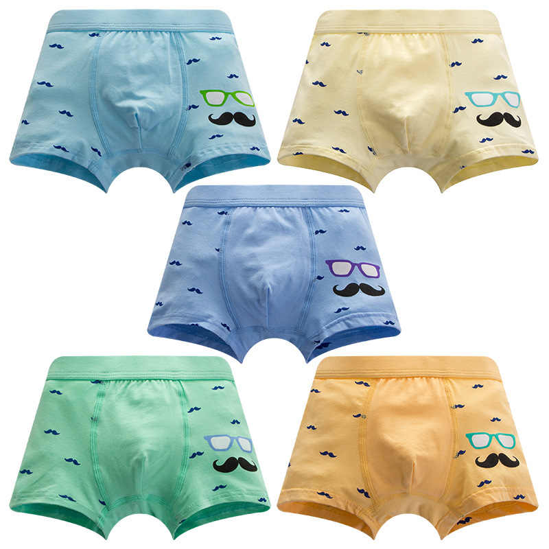 High Quality Kids Boys Underwear Cotton Funny Beard Boxer Panties Underpants Teenagers