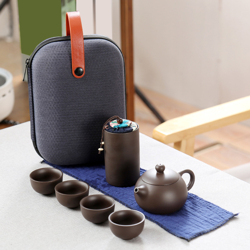Portable Ceramic Kung Fu Tea Set for Household Travel Cup Set|Teaware Sets| |  - title=