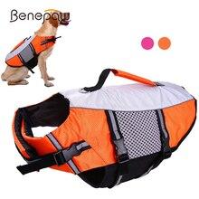 Benepaw Dog Lifejacket Boating Lifesaver Pet Swimsuit Reflective Adjustable High Visibility  Ripstop Lifevest
