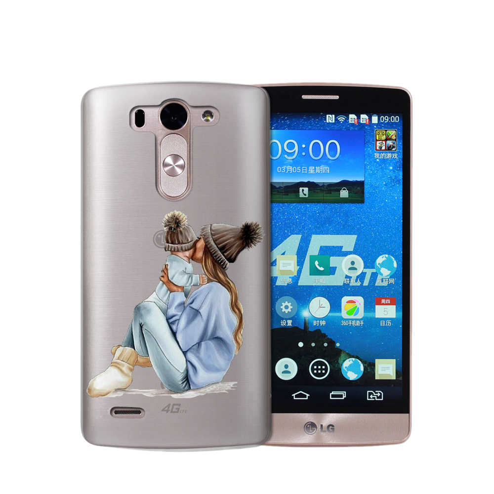 Phone Case Baby Mom Girl Super Mom Dad Luxury For LG G6 Q6 G3 G4 G5 G7 XPower 2 3 V30 Q8 K4 K7 K8 K10 2017 Etui Coque Silicone