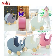 wooden walker INS Style push toy roll cart learning walk wood first step car Toddler Trolley Baby Wagon Birthday Christmas gift