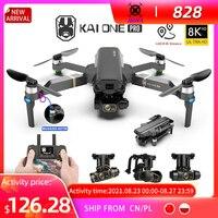 HKNA KAI ONE Pro GPS Drone 4K Profesional 8K HD Dual Kamera 3-Achsen Gimbal Aerial Photography bürstenlosen RC Faltbare Quadcopter