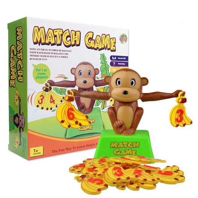Monkey Math Match Game | Balancing Scale  1